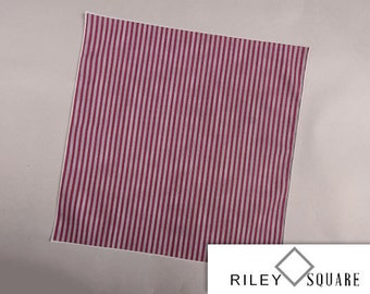 Maroon and Gray Striped Pocket Square/Handkerchief/Fashion