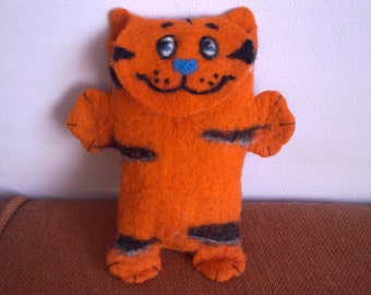 iPhone felt case Orange Tiger Cat Kids iPhone Felt iPhone sleeve Child gift cat iPhone accessory