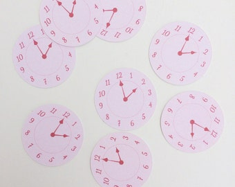Clock Faces for Around-The-Clock Bridal Shower - SET OF 24