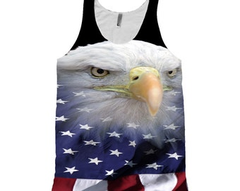 Eagle with American Flag_Tank Top_All Over Printing