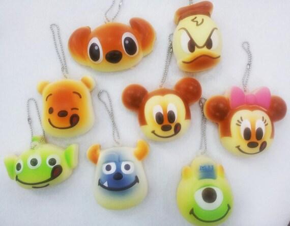 Squishy Head Bun : NEW second Generation Disney Bun Head Squishy kawaii