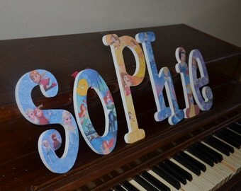 Disney Princess Inspired Wooden Letters, Princess Letters,  Snow White, Snow White Bedroom Decoration, Snow White birthday,