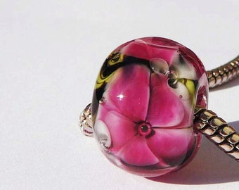 European Charm Bead, Large Hole Bead  -  Carrie by Sabrina Koebel Handmade Lampwork Beads