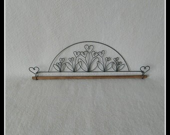 Flower Garden Quilt Hanger ~ Gray Wire 12, 16 or 22 Inches Wide ~ Made in the USA
