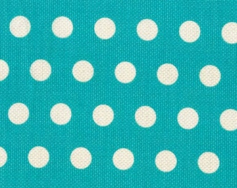 Michael Miller Fabrics Teal Cool Dots 1 Yard - Teal & White Polka Dots - DC5807-TEAL