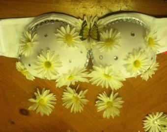 White Daisy Bra