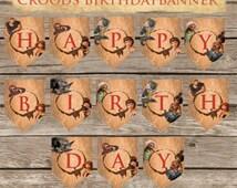The Croods Birthday Banner! Digital Download! Printable Birthday Banner!