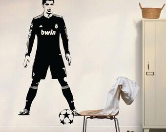 Cristiano Ronaldo Real Madrid CR7 Wall Decal Football Soccer Vinyl Wall Art