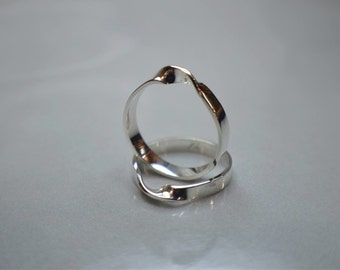 Twisted Ring. Silver ring. hand made twisted sterling silver ring.