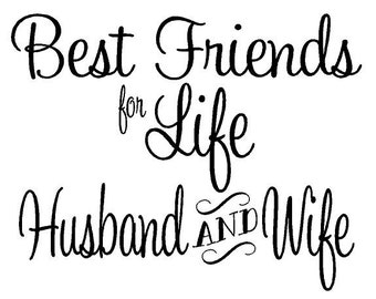 Best Friends for Life, Husband and Wife Decal