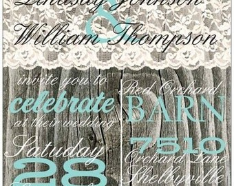 Wood Lace Wedding Invitations and more - many styles to choose from