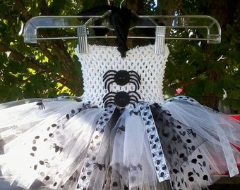 MADE TO ORDER Spider Princess/ Spider Queen Tutu Dress (Matching Hairbow Included)