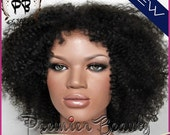 Free shipping afro kinky curly glueless full lace wigs 100% unprocessed remy human hair wigs natural black with baby hairs for black women