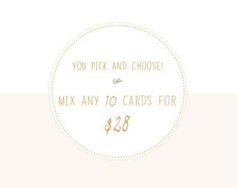 Pick and choose any 10 cards