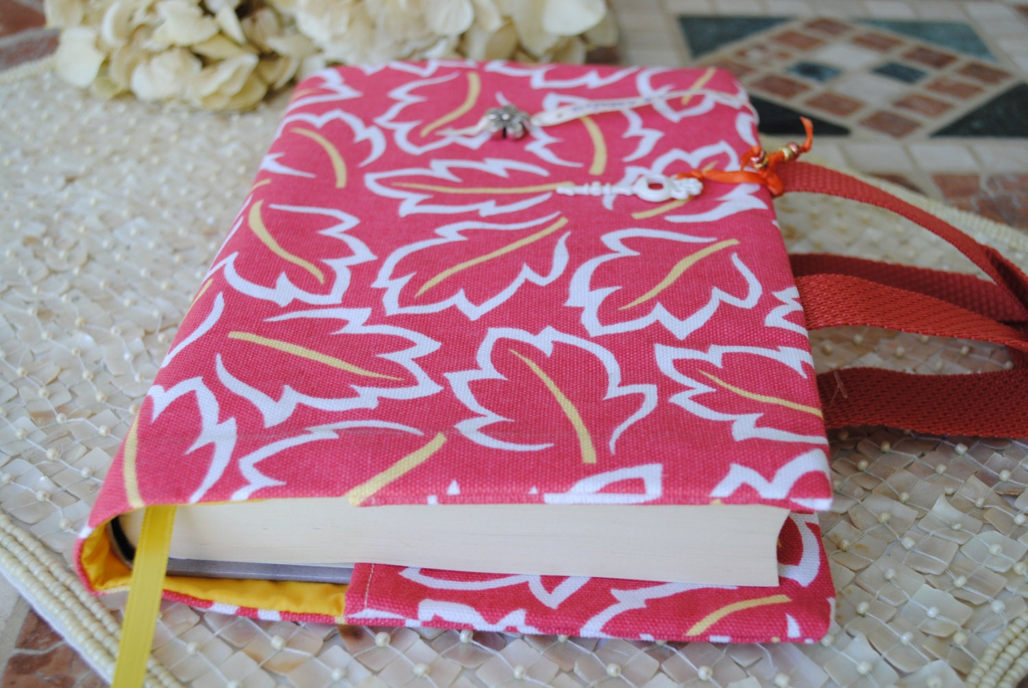 Fabric Book Covers With Handles : Fabric book cover with handles ristmas gift by maria natalia