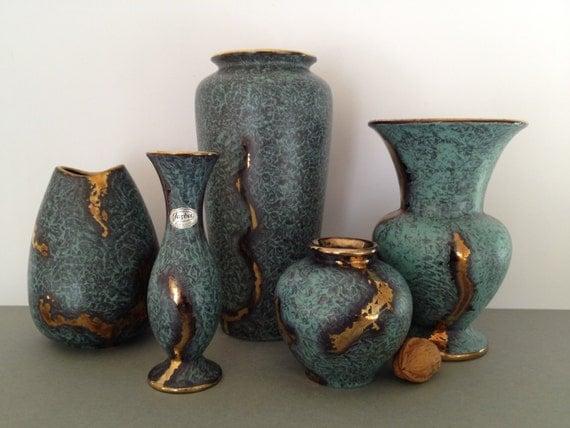 jaspatina keramik jasba mitte jahrhundert 50er vasen. Black Bedroom Furniture Sets. Home Design Ideas