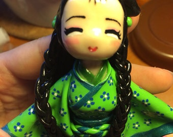 Doll figurine girl Chinese chinese lovely babydoll fimo