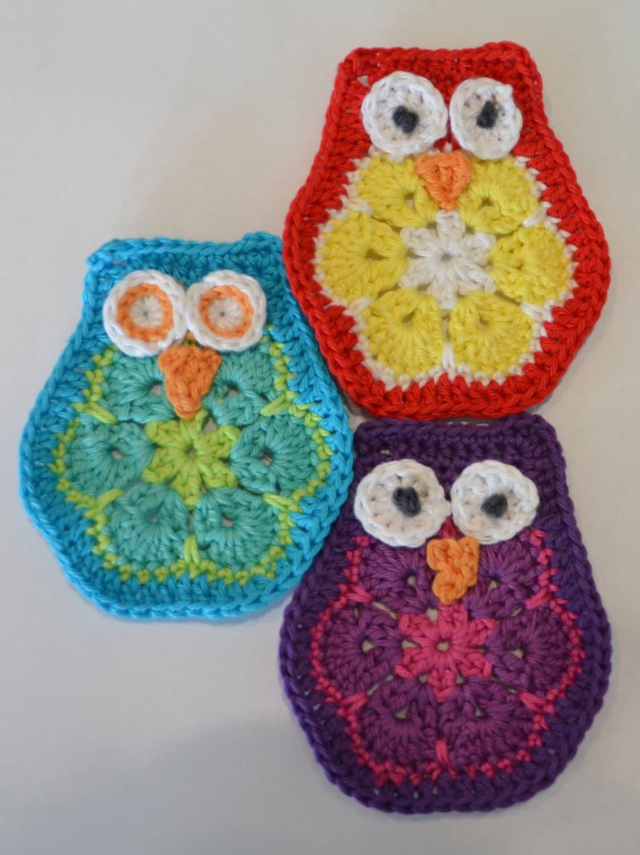 Crochet African Flower Pattern Free : Crochet pattern owl / crochet pattern african flower owl