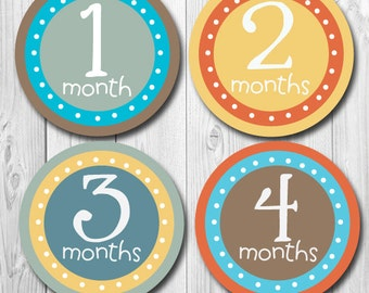Monthly Baby Stickers Baby Month Stickers Baby Boy Monthly Shirt Stickers Monthly Baby Sticker Boy Baby Shower Photo Prop Milestone