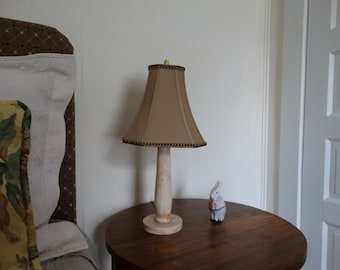 Lamp from vintage porch spindle with shade