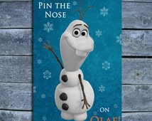 Pin The Nose on Olaf -INSTANT DOWNLOAD-DIY
