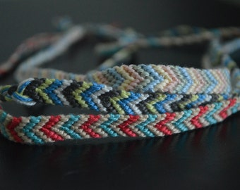 Multi-color woven thread anklet (customized)