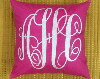 30% OFF Sale Monogram Decorative Pillow 20 X 20 Personalized Gift Custom Made Home Gift Housewarming Gift Available in All Sizes