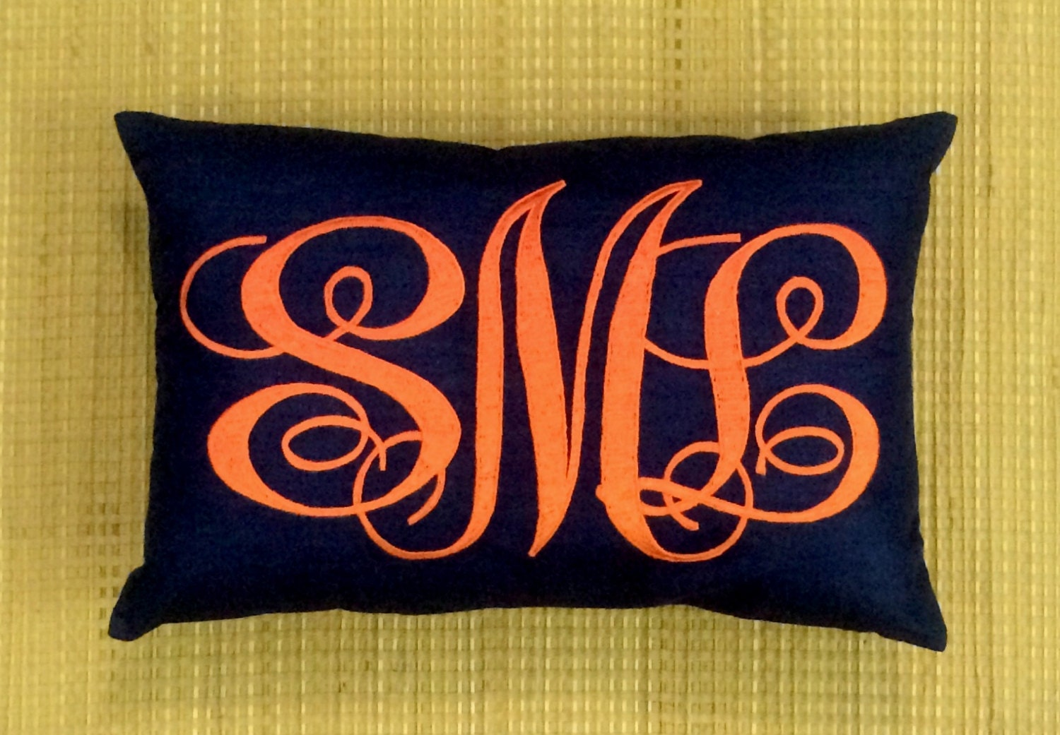 How To Make A Monogram Throw Pillow : 40%OFF Monogram Pillow Decorative Throw Pillow Personalized