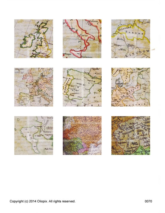 European Maps Grungy Sepia Handwriting Background 2-inch ...