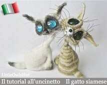 010IT crochet tutorial siamese cat. Amigurumi Toy-PDF Of Pertseva Etsy