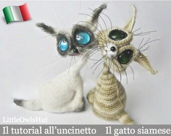 010IT Il tutorial all'uncinetto Il gatto siamese. Amigurumi Giocattolo - PDF Di Pertseva Etsy