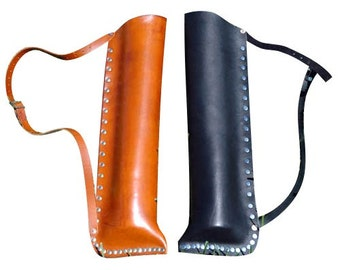 Elven Hunter Leather Quiver - Traditional and Fantasy Archery Quiver - #DK3101