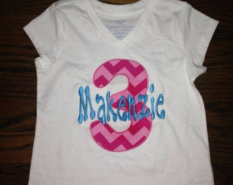 Girls and boys number birthday shirts