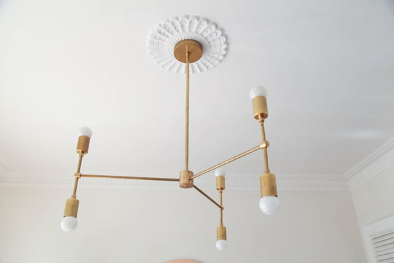 Adel Chandelier - custom brass chandelier