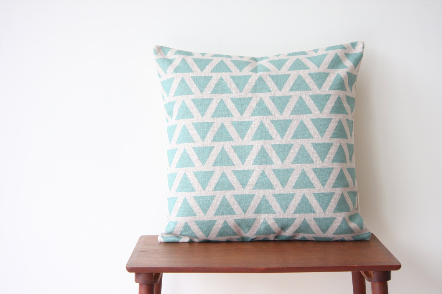 22 x 22 Decorative Pillow Cover Geometric Pattern by BeadandReel