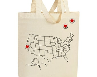 Hearts go out - Tote Bag