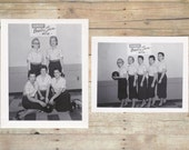 Vintage Women's Bowling Team Photos - set of 2 - Gumout Bowling Team, 1957-58 - vintage photography