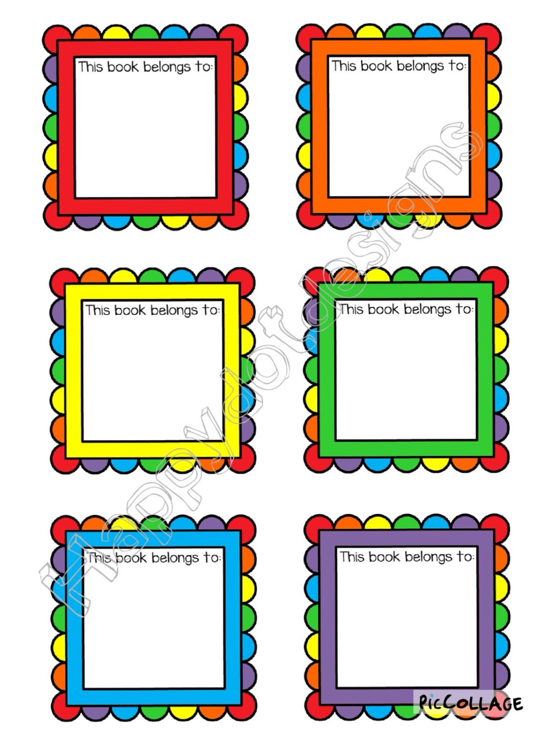 Printable classroom back to school book labels by for Room labels