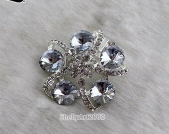 1pair/lot  Luxurious Flower A Grade Rhinestones Shoe Clips for Decoration Wedding Shoe Clip 4.4CM