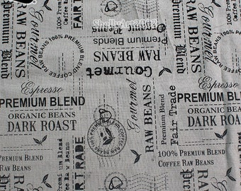 Letter Postmark Pattern Linen/Cotton Canvas Fabric Zakka Patchwork Fabric