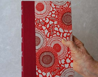 Red Mums Large Blank Journal, diary, blank book