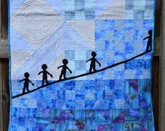Fiber Art, Wall Hanging, Contemporary Art Quilt, fiber art, wall hanging, home decor, Inspiration art quilt, wall art quilt, contempory art