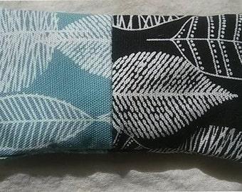 Organic Cotton Catnip Pillow - GOTS certified Organic Cotton - Black and Blue - Organic Catnip
