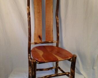 Handmade Ironwood and Cherry Dining Chair