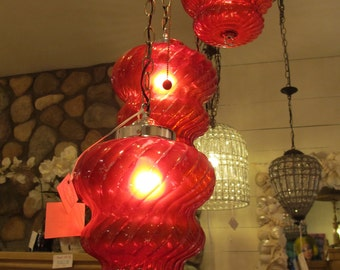 Red 60's Retro Chandelier