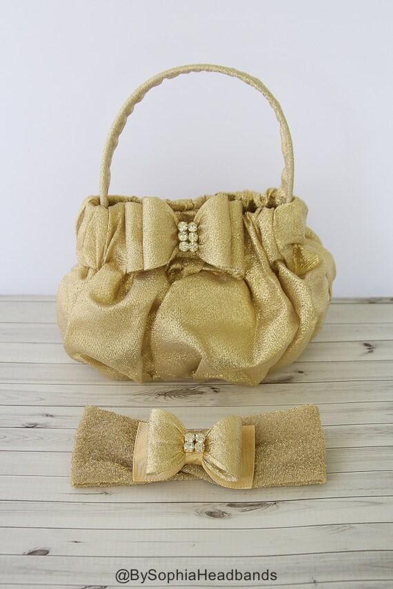 Bolsa De Perola Infantil : Gold baby purse toddler girl s handbag