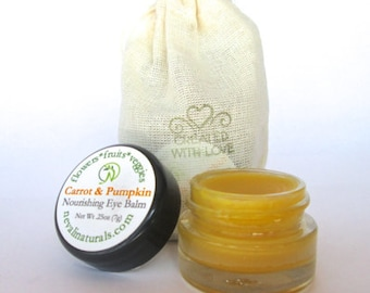 All Natural Eye Cream: Carrot & Pumpkin Nourishing Eye Balm