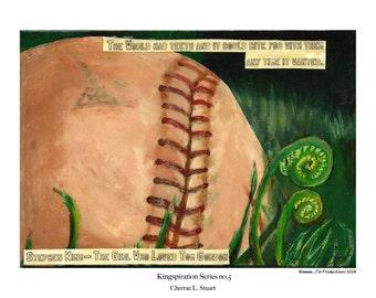 Stephen King inspired Art Print- The Girl Who Loved Tom Gordon
