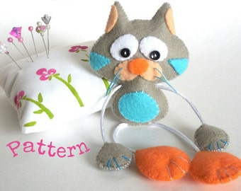 Popular items for cat toy pattern on etsy for Felt cat toys diy