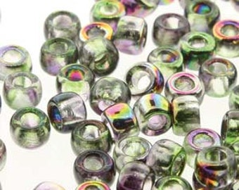 MATUBO Czech Glass - Size 7 - 3.5mm - 10 Grams - Magic Violet Green